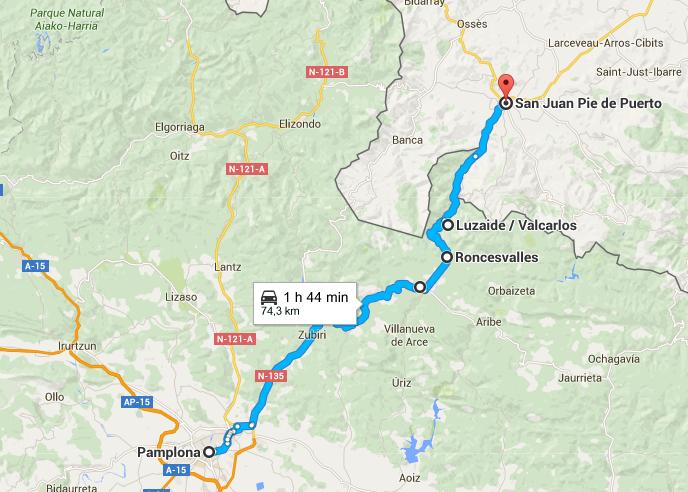 ruta-desde-pamplona-a-roncesvalles-y-francia