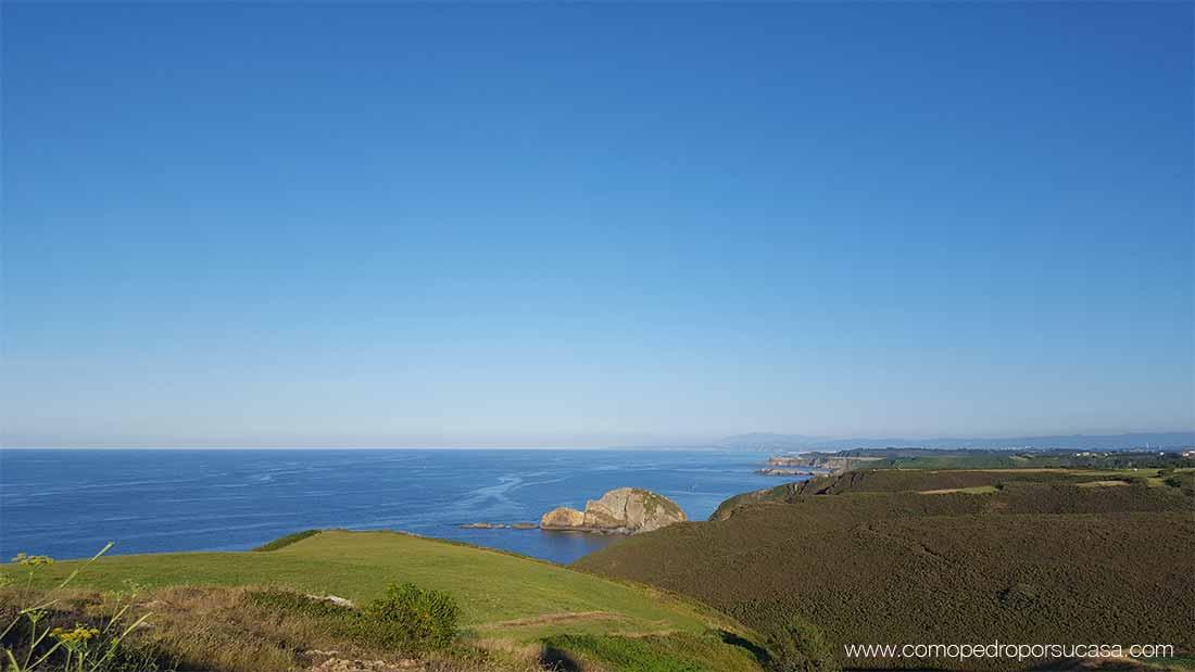 vistas mar en calma cabo de peñas asturias